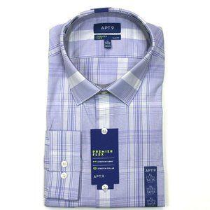 Apt. 9 Dress Shirt - Purple - XL 17-17.5, 34/35
